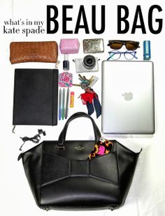 What's In My Kate Spade Beau Bag