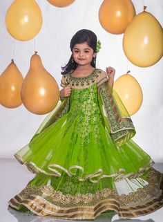 b44f9a870045f1 Mesmerize the world in this apple green royal floor length layered anarkali  enriched with intricate kundan