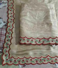 Embroidery Suits Punjabi, Embroidery On Kurtis, Hand Embroidery Dress, Kurti Embroidery Design, Silk Ribbon Embroidery, Embroidery Fashion, Hand Embroidery Designs, Diy Embroidery, Machine Embroidery