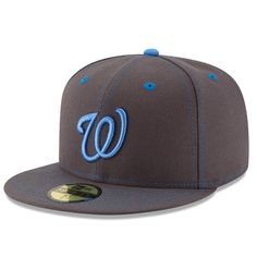 size 40 2c25d f00f2 Men s Washington Nationals New Era Graphite 2016 Father s Day 59FIFTY  Fitted Hat