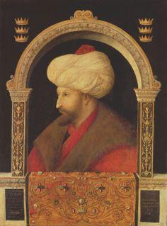 Attributed to Gentile Bellini, The Sultan Mehmet II, 1480, oil on canvas, National Gallery, London, UK © Bridgeman Images