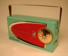 Amazing vintage BULOVA transistor radio in my favourite colour combo