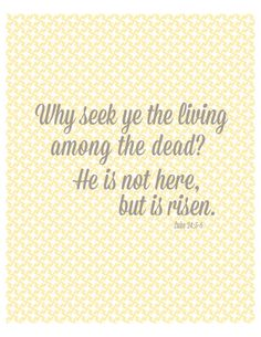 Easter resurrection scripture quote printable poster pdf. $5.00, via Etsy.