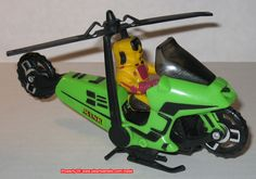 MASK Condor - This was a motorcycle that transformer into a helicopter. It came complete with the Brad Turner action figure.