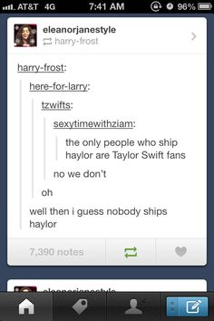 bahahahahaha this is the greatest thing ever. no one ships haylor, no one.