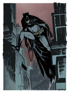 Chris Samnee Batman warm up colours by Pleurgh.deviantar on - Womens Batman - Ideas of Womens Batman - Chris Samnee Batman warm up colours by Pleurgh. Im Batman, Batman Art, Superman, Batman Painting, Batman Arkham, Batman Robin, Comic Book Artists, Comic Artist, Comic Books Art