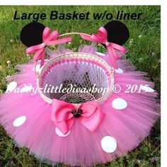 Easter Basket. Miss Mouse Minnie Mouse by DaddyzLittleDivaShop