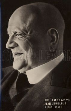 Portrait of Jean Sibelius, Finnish composer.