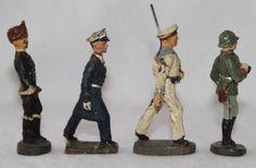 3 Elastolin + 1 Lineol Figur aus den 30ger Jahren der 7,5cm-Serie | eBay