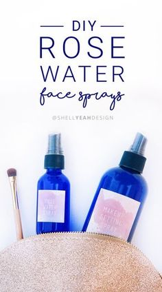 How to make two Rose Water Face Sprays in less then 10 minutes! One is a Rose Water Makeup Setting Spray & the other is a Rose Water Face Mist! They smell and feel amazing! #allnatural | Shell Yeah! Design