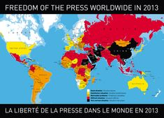 Freedom of the Press--where it's good, and where it's not. The original report --> http://fr.rsf.org/IMG/pdf/classement_2013_gb-bd.pdf