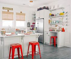 Kitchen with bright colors!