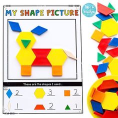 This weeks #tptfreebie is a fun open ended shape activity. To play students create a picture using pattern blocks, they then fill in the bottom section. You may like to have your students draw or trace the shapes for an extra challenge or to create a work