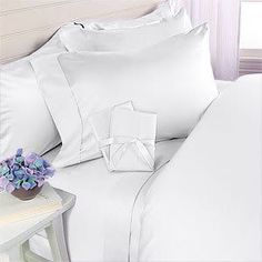 Amazon.com: ITALIAN 1200 Thread Count Egyptian Cotton Duvet Cover Set , Full / Queen , White , Made in ITALY: Home & Kitchen