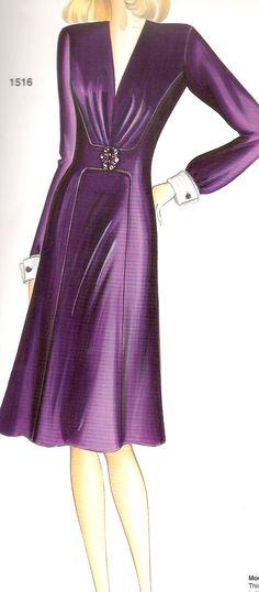 Marfy1516 Retro Fashion, Trendy Fashion, Vintage Fashion, Womens Fashion, Marfy Patterns, Clothing Patterns, Cocktail Dresses Evening Wear, Evening Dresses, Couture