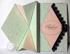 An Elegant Touch...: 'New every morning… Thinking of You' Upright Diamond-fold Card