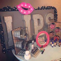 23 ideas makeup party setup make up for 2019 Mary Kay, Ideas Decoracion Cumpleaños, Vendor Table, Vendor Booth, Makeup Boutique, Vendor Displays, Makeup Display, Senegence Makeup, Senegence Products