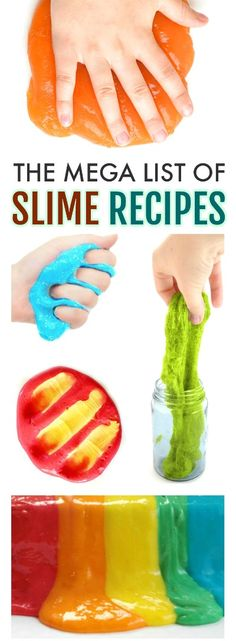 100+ SLIME RECIPES FOR KIDS: THE ULTIMATE LIST! From gak to goop it's all here! #slimerecipes #slime #slimerecipe #howtomakeslime #slimerecipeeasy #slimewithoutglue #howtomakeslimeforkids #howtomakeslimeeasy #craftsforkids #activitiesforkids
