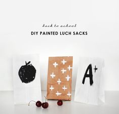 DIY Painted Lunch Sacks
