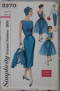 1950s Vintage Simplicity 2370