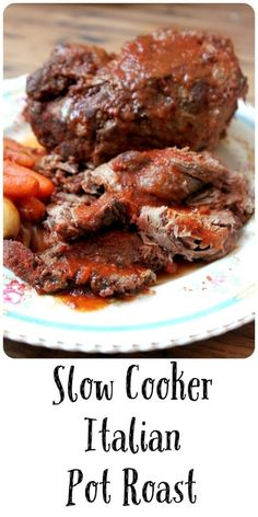 A tender pot roast with tomatoes, garlic, and Italian seasonings