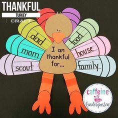 kindergarten turkey thanksgiving writing craft
