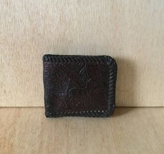 Vintage 1970s Handmade Hand Tooled Leather Dark by ForestaVintage