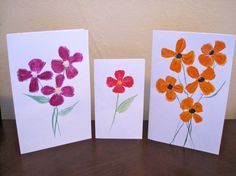Watercolor cards Pack of 3 Each card is hand painted by Poyeema, $7.50