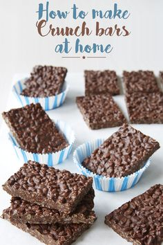 Crunch Bars recipe for homemade crunch bars makes for an easy dessert. recipe for homemade crunch bars makes for an easy dessert. Brownie Desserts, Easy Desserts, Delicious Desserts, Yummy Food, Candy Recipes, Sweet Recipes, Baking Recipes, Cookie Recipes, Dessert Recipes