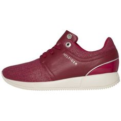 bb20f1839f2f63  AboutYou  TOMMYHILFIGER  Sale  Schuhe  Sneaker  Sneaker Low  Damen  TOMMY   HILFIGER  Sneaker  S1285AMANTHA  2C4  rot  schwarz    ootd  outfit  fashion  ...