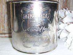 Vintage Tea Tin English Breakfast Tea Can  3751 by MyVintageAlcove, $24.95