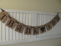 Wedding Banner Thank You Garland Bunting Perfect by EncoreBanners
