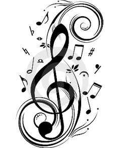 treble clef, music