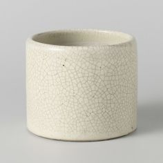 Cilindrische pot met een crèmekleurig glazuur, anoniem, ca. 1400 - ca. 1950 - Rijksmuseum