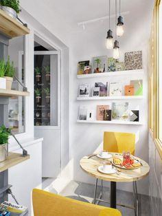 White ikea shelves | hanging pendants