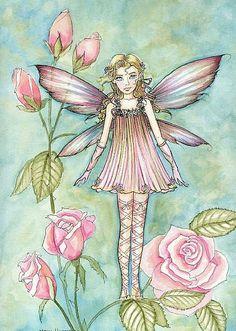 Molly Harrison Fanciful Rose - fairy art