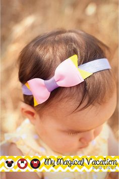 Rapunzel Boutique Baby Headband Disney Bow by MyMagicalVacation