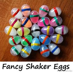 A simple way to make fancy DIY egg shakers for kids! Explore sound by filling with different objects! This is a great use for leftover plastic Easter Eggs! Preschool Music, Music Activities, Easter Activities, Activities For Kids, Crafts For Kids, Craft Kids, Movement Activities, Toddler Crafts, Homemade Musical Instruments