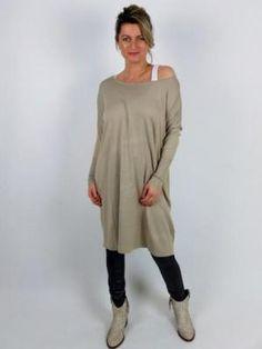 Tuniek sweater dress Ambika Tahnee - Taupe
