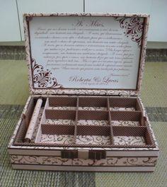 Tudo em Caixas - Caixas em MDF e Tecido (67)3211-7767: caixa bijus com porta anel
