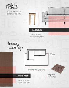 Para escolher os móveis da sua sala de estar é importante observar algumas medidas para deixar o ambiente confortável e harmonioso.