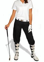 Ladies Black Par 3 Microfiber Golf Knickers by GolfKnickers.  Buy it @ ReadyGolf.com