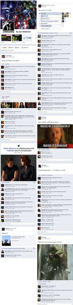 If the avengers assembled on Facebook. these are too friggin funny