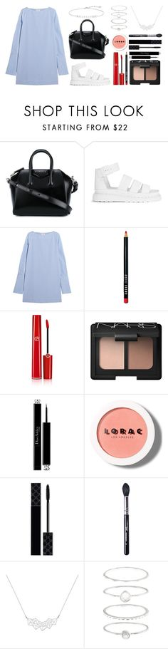 """Happy Easter 2017: Night Party"" by ordinarydays ❤ liked on Polyvore featuring Givenchy, Dr. Martens, Totême, Bobbi Brown Cosmetics, Giorgio Armani, NARS Cosmetics, Christian Dior, LORAC, Gucci and Sigma"