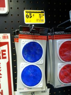 Buy reflectors at the hardware store for Plinko chips.