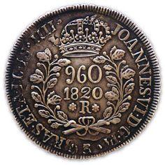 Moeda brasileira de prata do Brasil Colônia 960 réis 1820