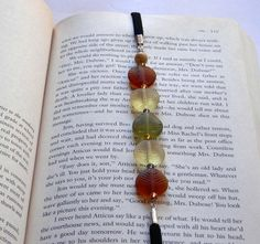 Elastic BookMark - Frosted Fall Leaves BookBand for Nook or Kindle BookMark