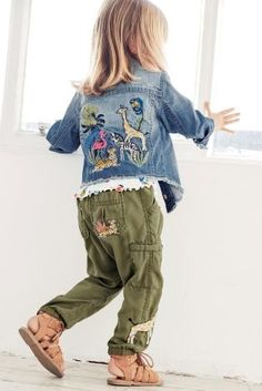 Embellishment is EVERYWHERE this season, and your kids wardrobe can be packed with it too! How gorgeous is this denim jacket?!