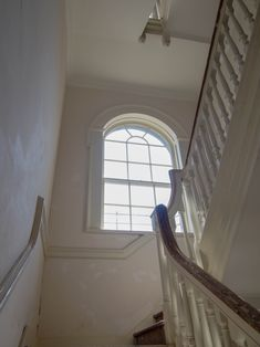 This lovely window in Henrietta Street in Dublin has been preserved under the conservation laws of the city. Our joinery experts repaired the window surrounds and the window itself allowing it to shine in all of it's former glory and elegance.
