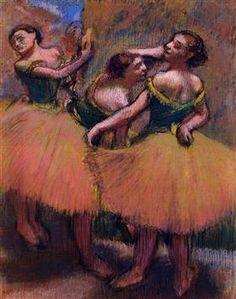Three Dancers, Green Blouses Artwork By Edgar Degas Oil Painting & Art Prints On Canvas For Sale Pierre Auguste Renoir, Edouard Manet, Edgar Degas, Monet, Corsage, Degas Ballerina, Degas Paintings, Portrait Paintings, Portraits